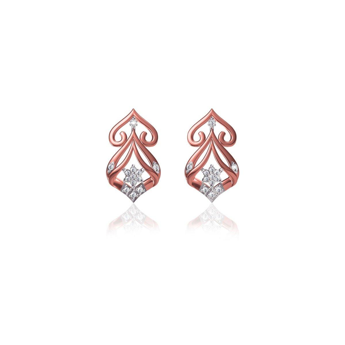 Crimson Myrtle Earrings
