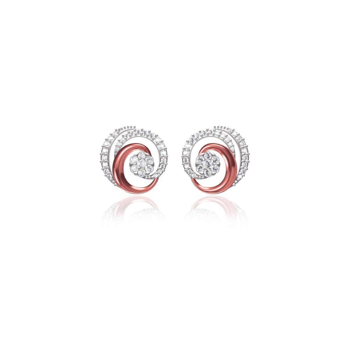 Twisty Rose Gold Earrings