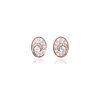 Pink Twirl Gold Earrings
