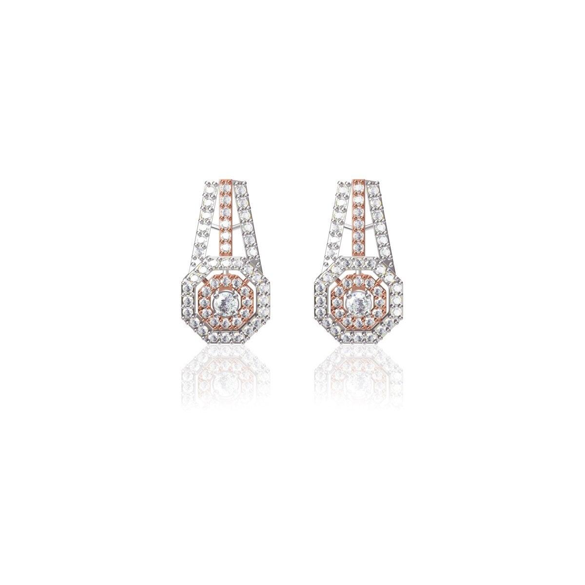 Carmel Rose Gold Earrings