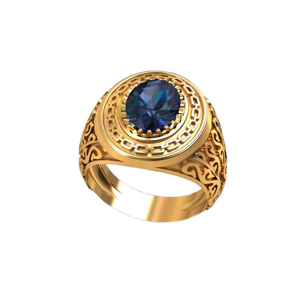Neelam Gold Ring