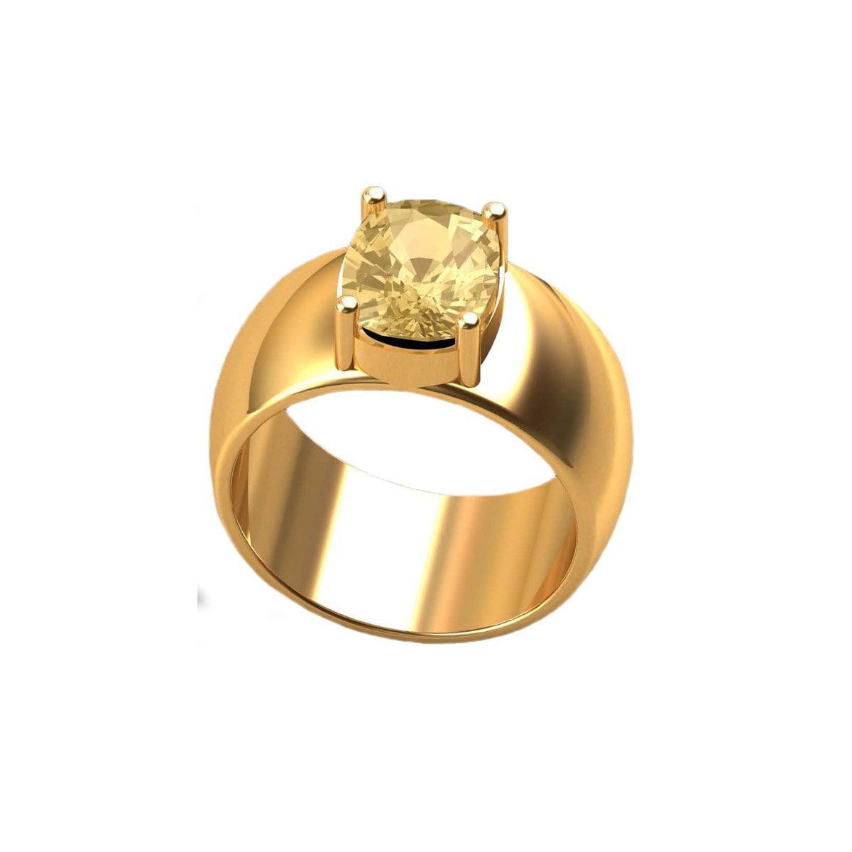 Pokhraj Gold Ring