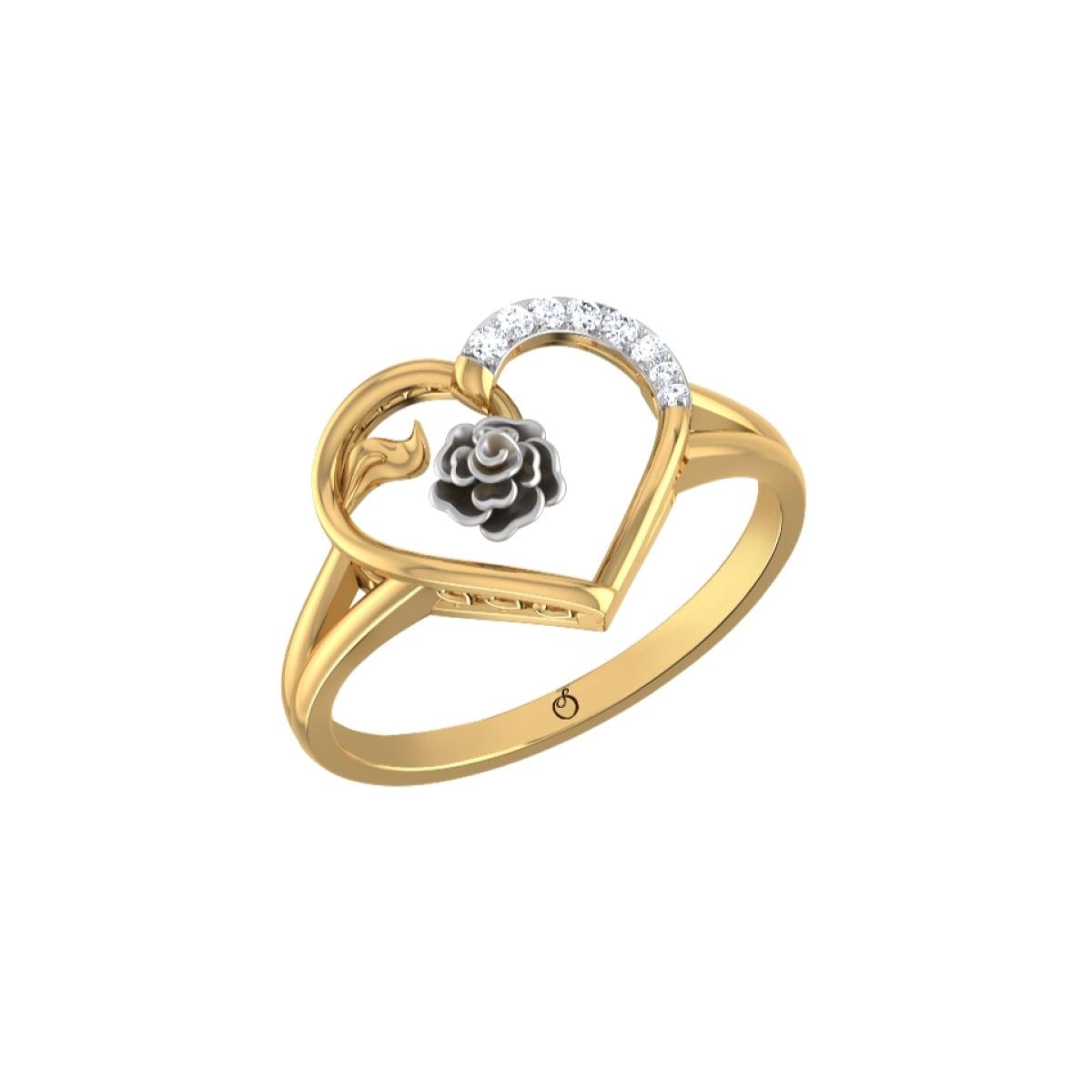 Blue Heart Diamond Ring