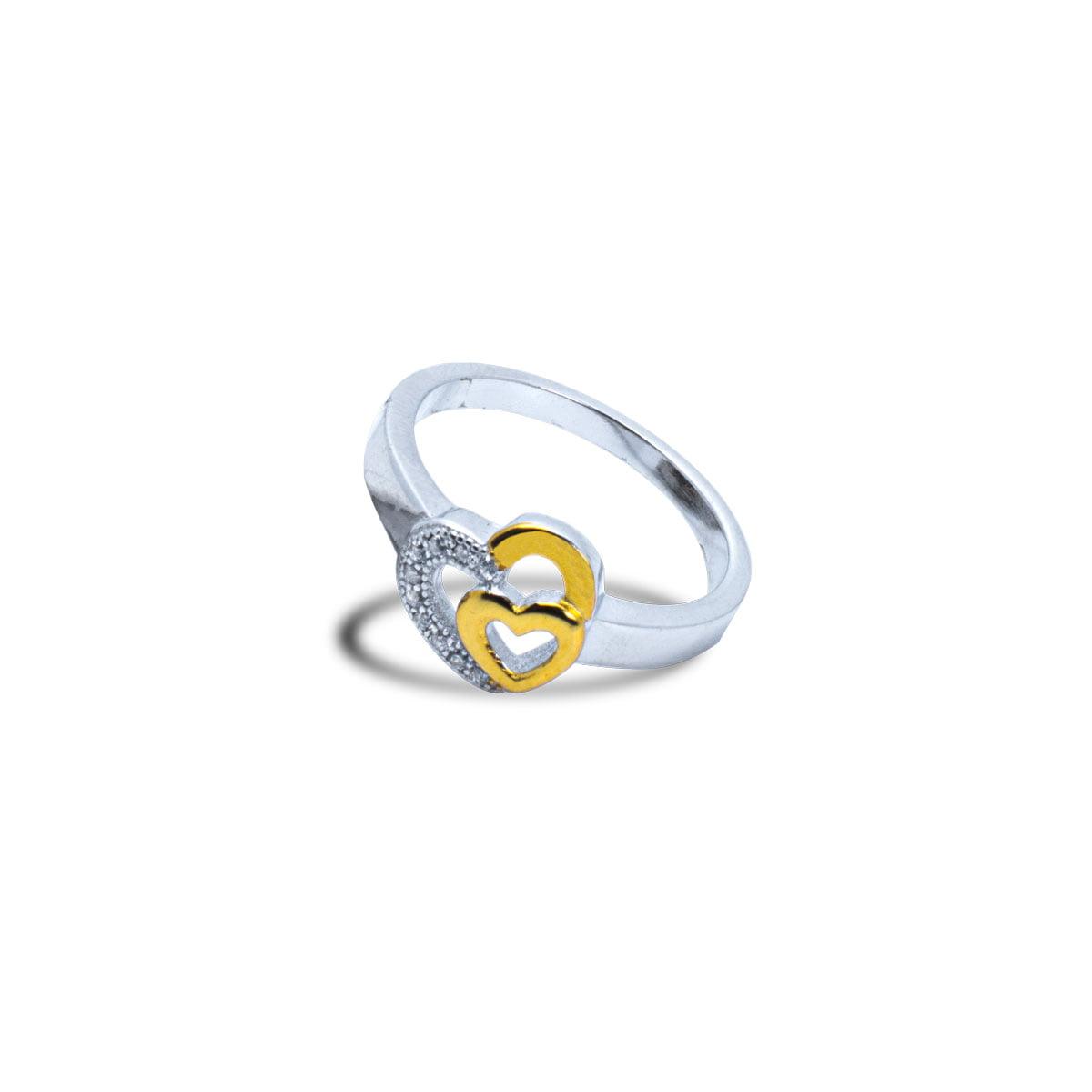 Twin Heart Ring