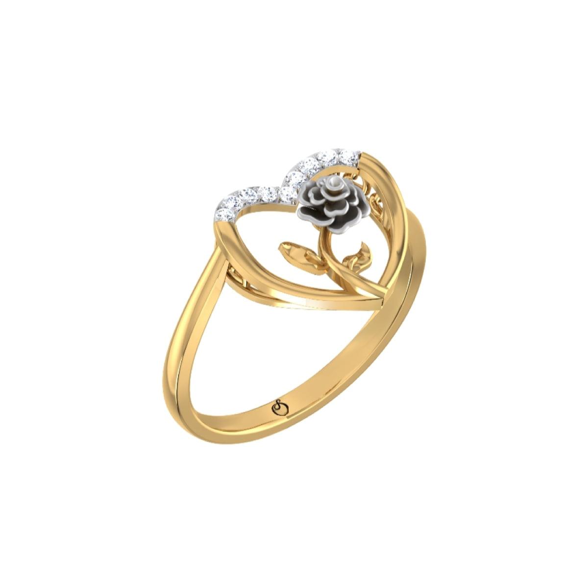 White Rose Gold Ring