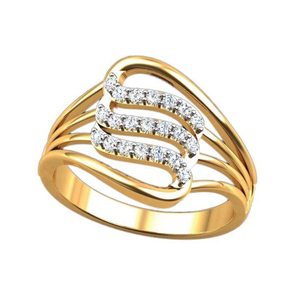 3 Diamond Line Ring