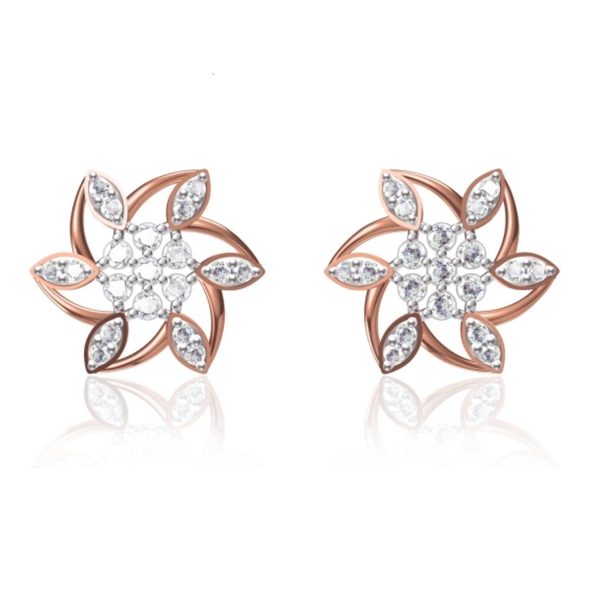 5 Star Gold Earrings