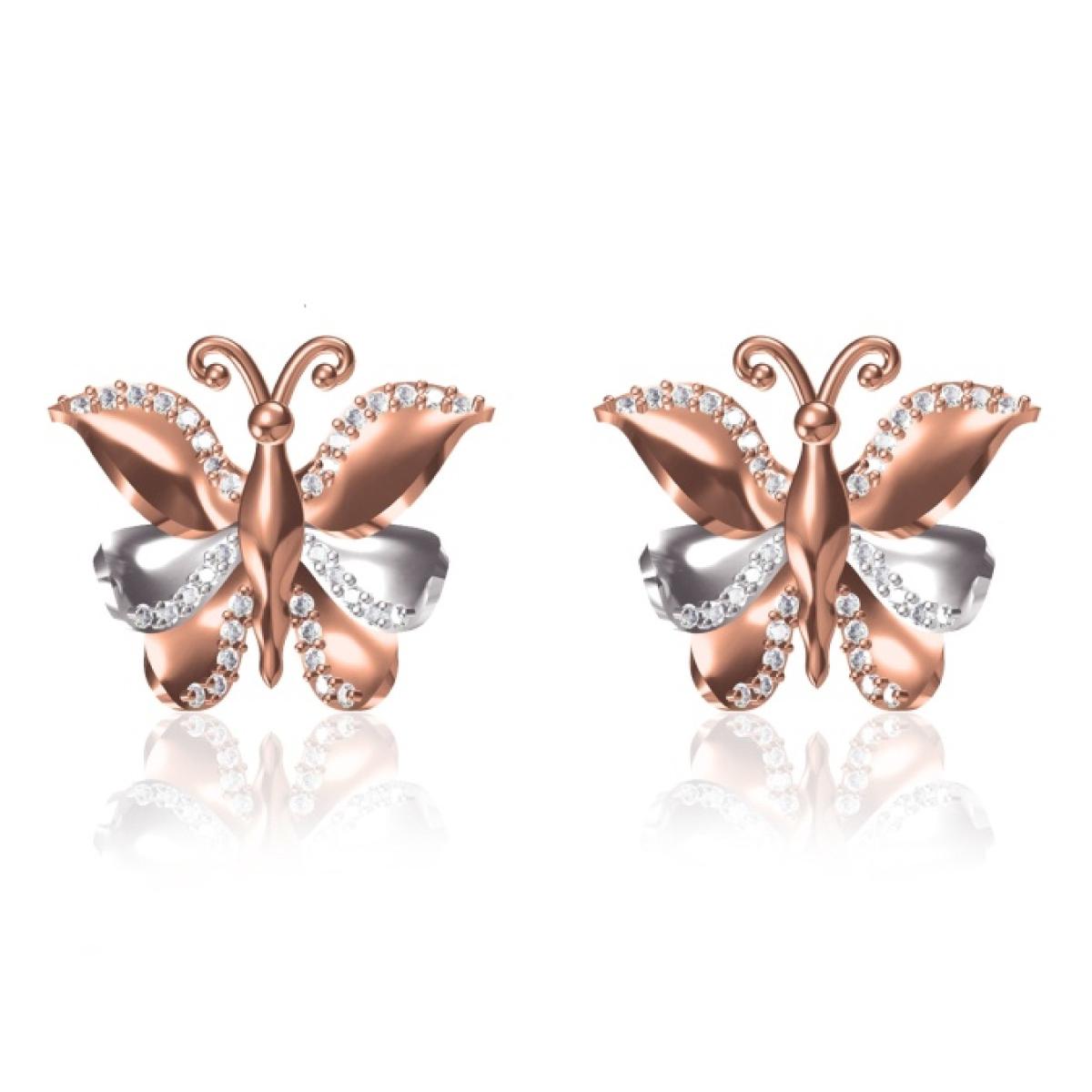 Butterfly Rose Gold Earrings
