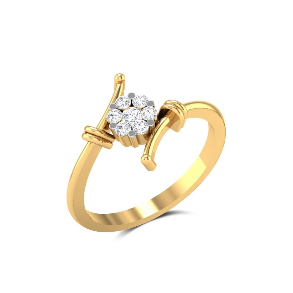 Gold Bond Diamond Ring