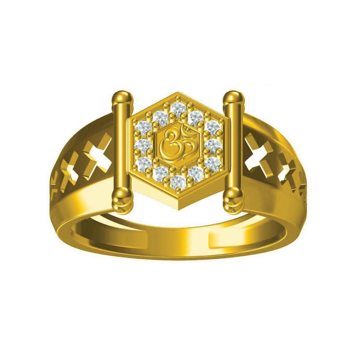 Hari Om Gold Ring