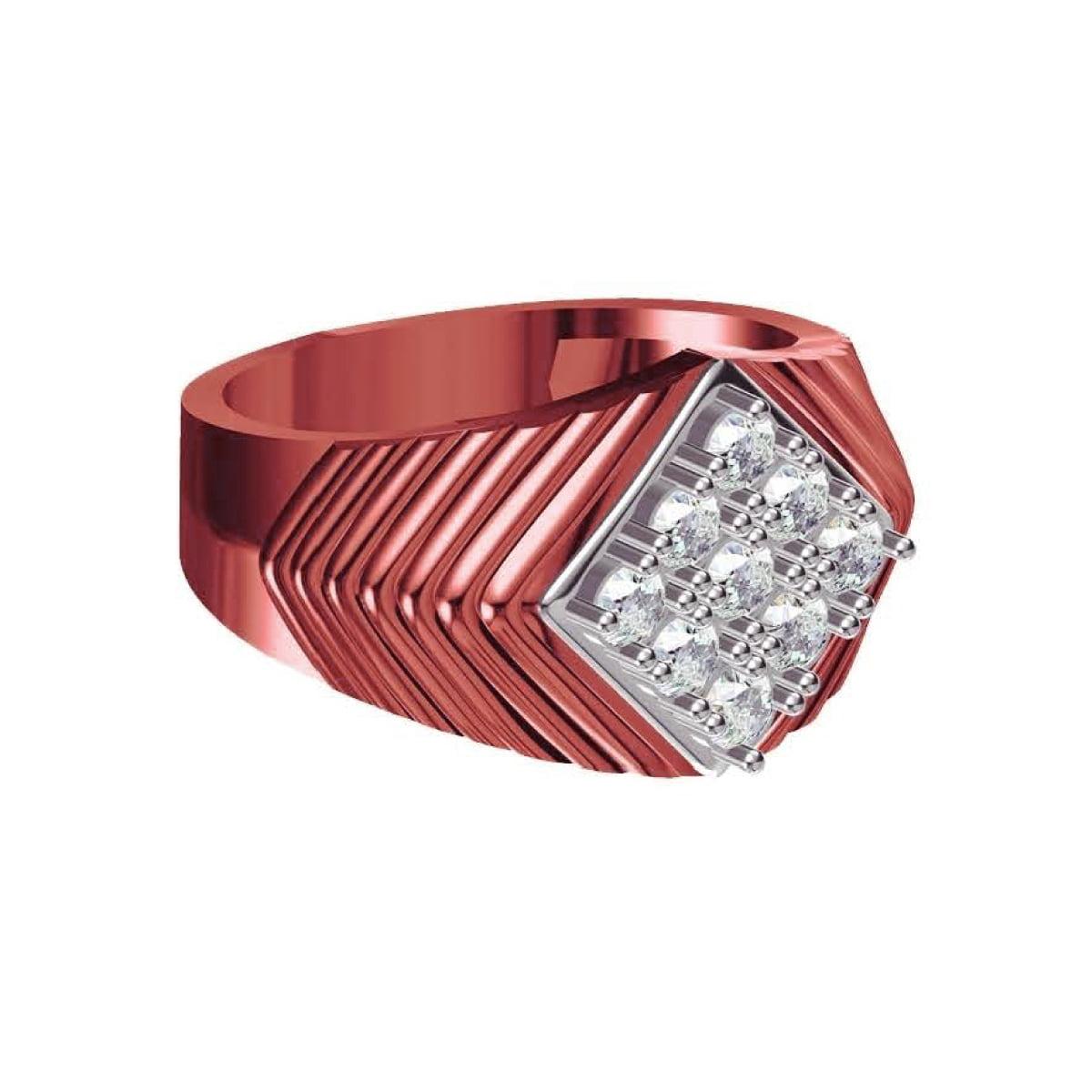 Red Rose Diamond Ring