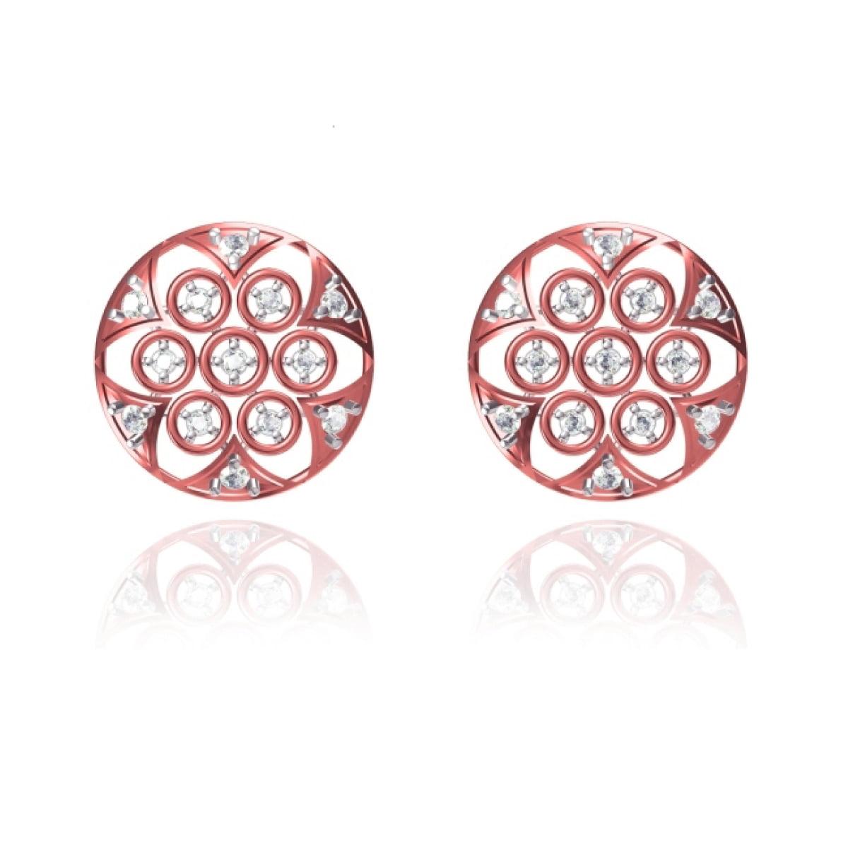 Ring Rose Gold Earrings