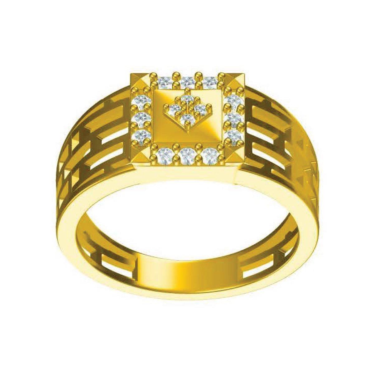 Star Edge Gold Ring