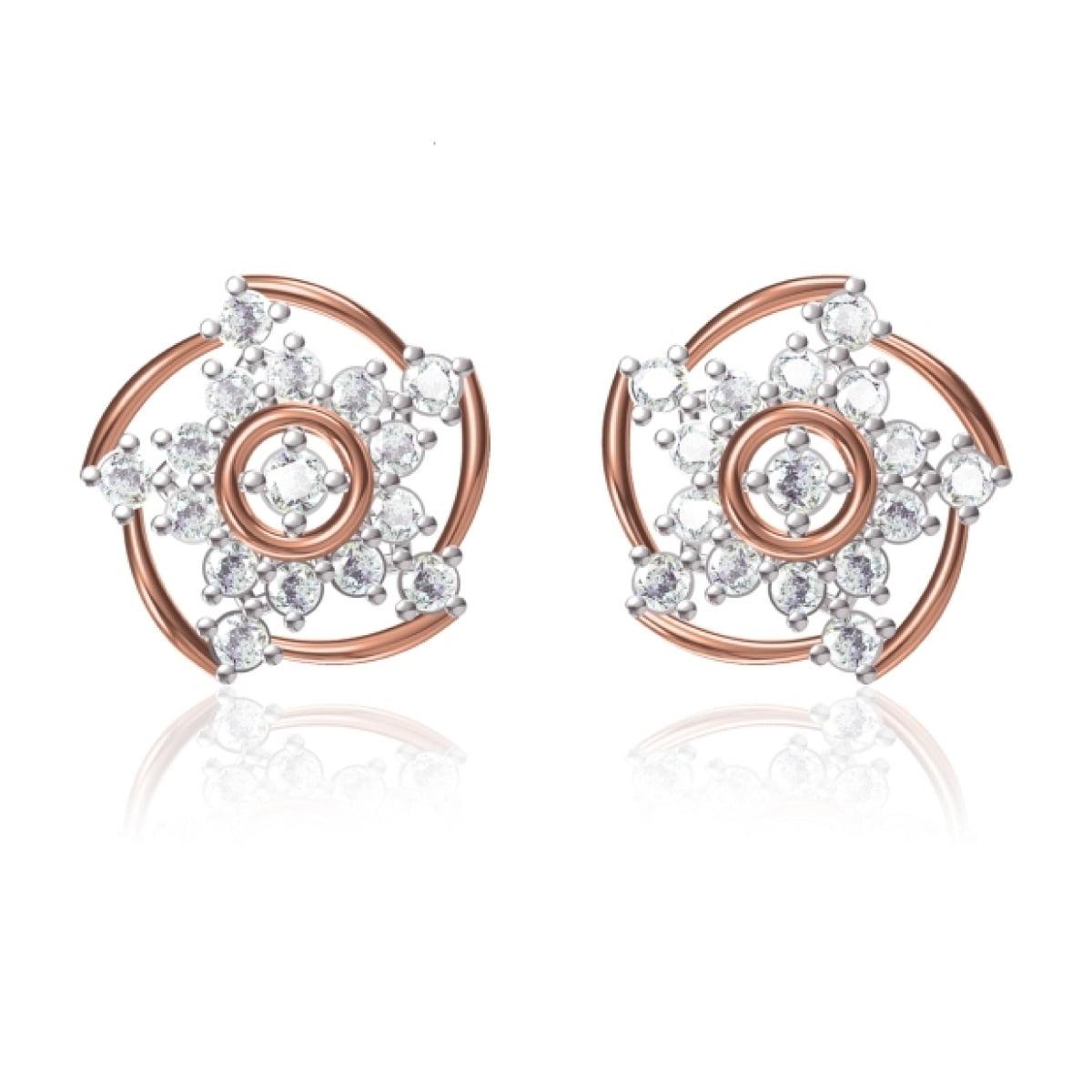 Star Loop Gold Earrings