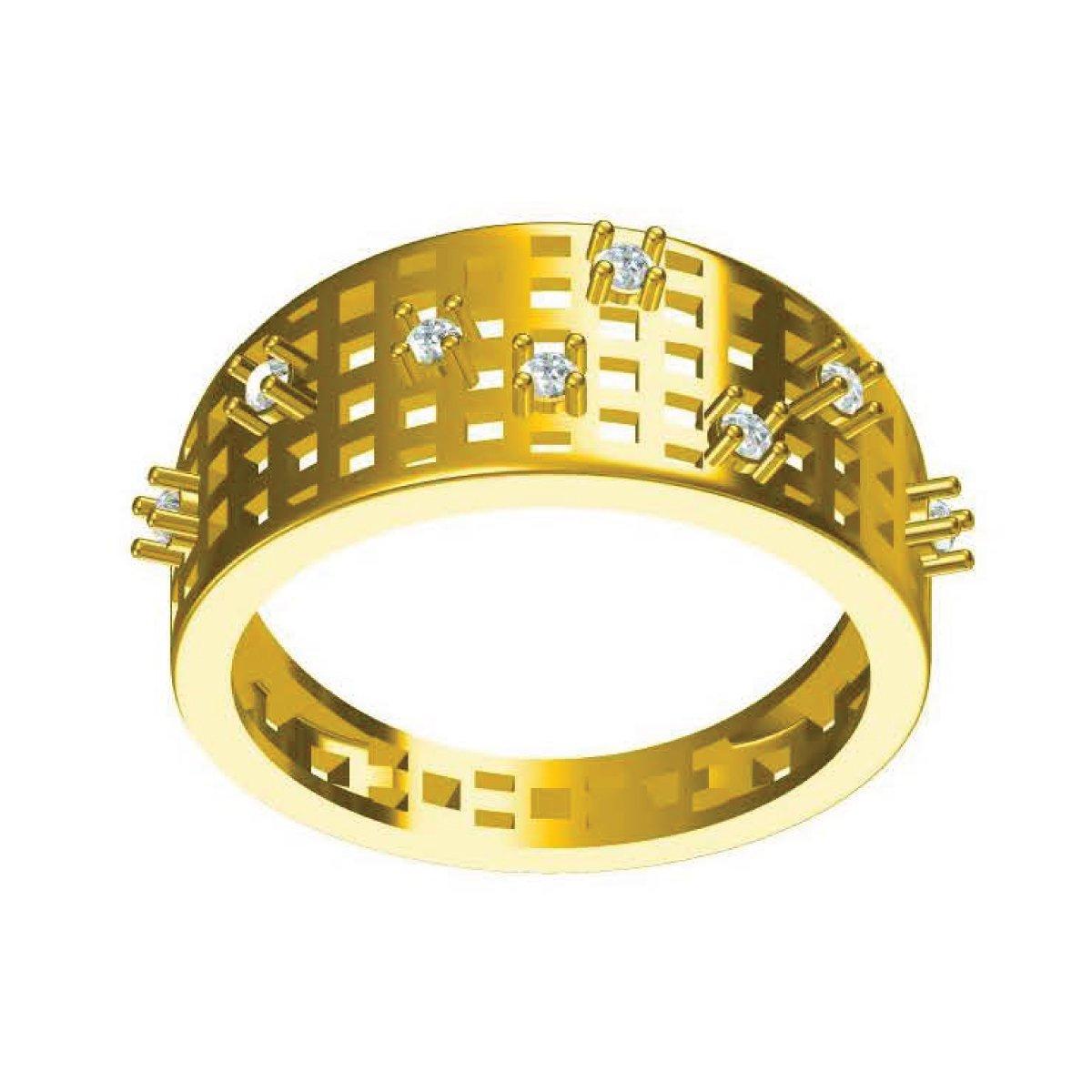 Starry Night Gold Ring