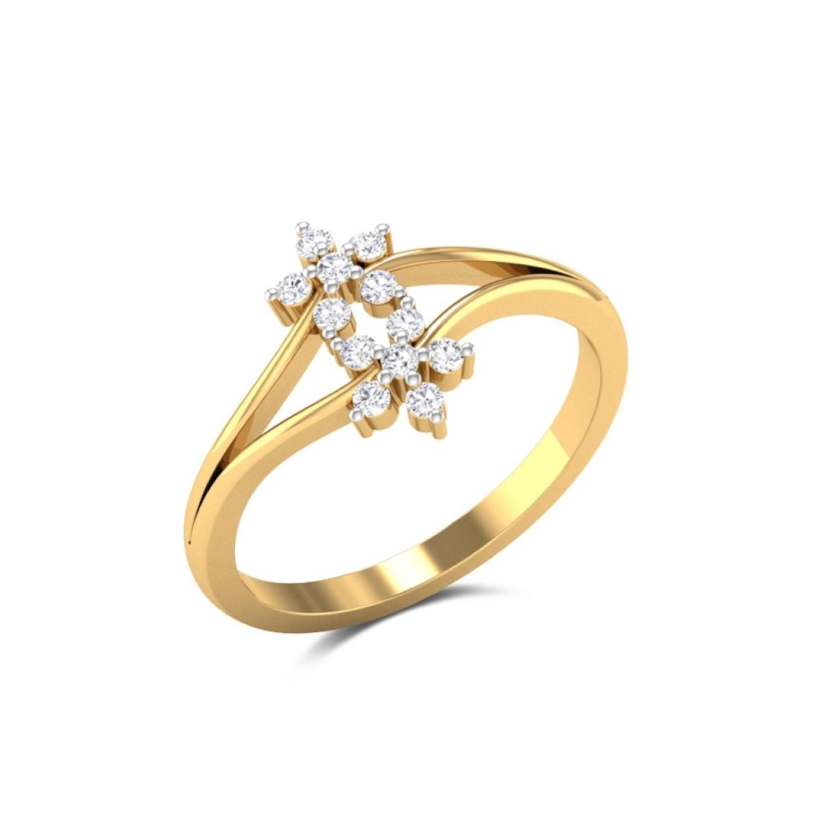 Twinning Gold Ring