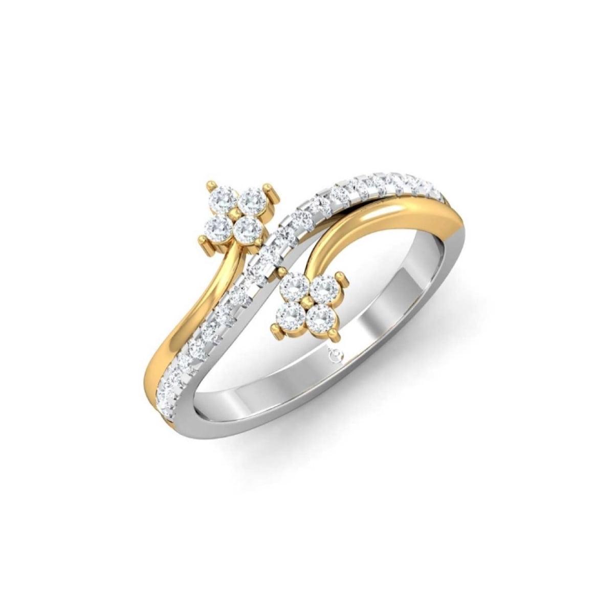 White Shine Gold Ring